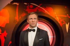 Daniel Wroughton Craig w muzeum Madame Tussauds zdjęcia royalty free