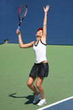 Daniela Hantuchova Serving at the 2008 US Open Royalty Free Stock Photos