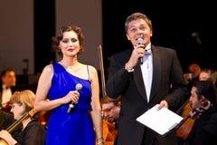 Daniela Nane en Adrian Paduraru royalty-vrije stock foto