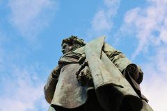 Daniele Manin bronze statue, in Venice, Europe Stock Image