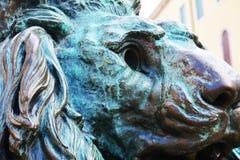 Daniele Manin detalj av lejonet, Venedig, Europa royaltyfri bild