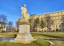 Daniele Manin-monument in de Cavour-Tuinen Turijn, Piemonte, Italië royalty-vrije stock afbeeldingen