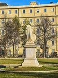 Daniele Manin monument i de Cavour trädgårdarna italy piedmont turin royaltyfria bilder