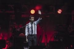 Daniele silvestri live on stage Royalty Free Stock Photos