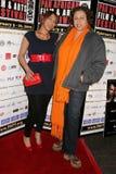 Daniella Blechner en Lydia Martinelli bij de Pan Afrikaanse Première van het Festival van de Film van ?Layla?. Het Theater van het stock afbeelding