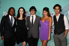Daniella Monet, Elizabeth Gillies, Leon, Leon Thomas, Avan Jogia Royalty Free Stock Photo