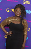 "Danielle Brooks. Actress Danielle Brooks arrives on the red carpet for the New York premiere of the third season of the hit HBO cable comedy ""Girls stock photography"