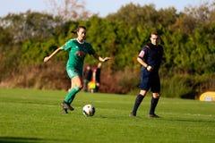 Danielle Burke während des Bundesligamatches der Frauen zwischen Frauen Cork Citys FC und Peamount vereinigte stockfotos