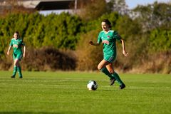 Danielle Burke during the Women`s National League match between Cork City FC Women and Peamount United. October 28th, 2018, Cork, Ireland: Danielle Burke during stock photography