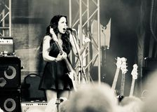 Blues Artist Danielle Nicole in concert at Mont Tremblant on July 12, 2018 Royalty Free Stock Photo