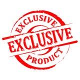 Danificado em volta do selo com a inscrição - produto exclusivo Foto de Stock