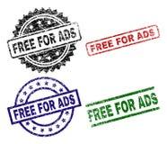 Danificado Textured LIVRE PARA selos do selo do ADS ilustração stock
