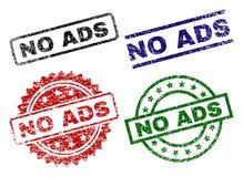 Danificado Textured NENHUNS selos do selo do ADS ilustração royalty free
