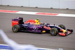 Daniil Kvyat красных гонок Bull Формула-1 Сочи Россия Стоковое Изображение RF