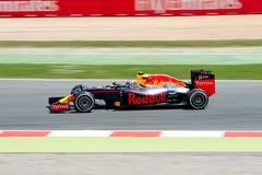 Daniil Kvyat управляет автомобилем Scuderia Toro Rosso на следе для испанского Формула-1 Grand Prix на Цепи de Catalunya Стоковое Изображение RF