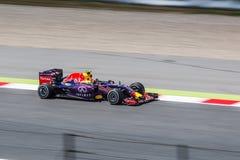 Daniil Kvyat alla formula 1 Barcellona Gran Prix 2015 fotografie stock libere da diritti