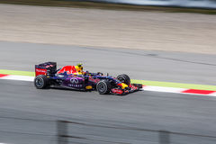 Daniil Kvyat at Formula 1 Barcelona Gran Prix 2015 Royalty Free Stock Photos