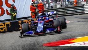 Daniil KVYAT in his Toro Rosso STR14 at the pool chicane during free practice