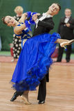 Daniil Shmidt- und Alina Gumenyuk Perform-Youth-2 Standardprogramm über nationale Meisterschaft stockbilder