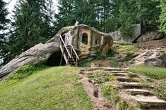 Daniil Sihastru sanctum. Made in rock royalty free stock photos