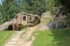 Daniil Sihastrul Cave - Chilia lui Daniil Sihastrul Stock Image