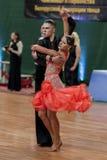 Danila Shmidt and Alina Gumenyuk Perform Juvenile-2 Latin-American Program Royalty Free Stock Image