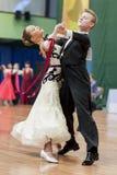 Danilevich Kevin and Dorosh Dariya Perform Juvenile-1 Standard European Program on National Championship Royalty Free Stock Photos
