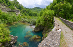 Danilo's Bridge Over Mrtvica river, Montenegro Royalty Free Stock Photo