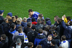 Danilo Silva of Dynamo Kyiv gives autographs Royalty Free Stock Photography