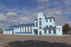 Danilov stacja kolejowa w Yaroslavl regionie fotografia stock