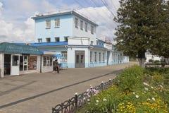 Danilov stationsj?rnv?gsstation i den Yaroslavl regionen royaltyfri fotografi