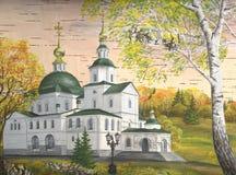 danilovkloster moscow russia stock illustrationer