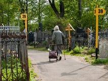 Danilovskoe kyrkogård Arkivbilder