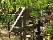Danilovskoe kyrkogård Fotografering för Bildbyråer