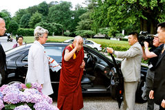 DANIS PM MEETS DALAI LAMA Stock Images