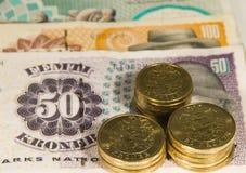danish валюты Стоковые Изображения RF