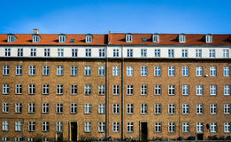 Danish apartment house Stock Images
