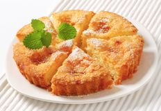 Danish apple cake Royalty Free Stock Photo