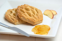 Danish apple pastry Royalty Free Stock Images