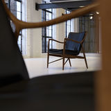 Danish armchair in loft Royalty Free Stock Photography