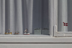 Danish Beach Hut Window Royalty Free Stock Photo
