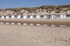 Danish Beach Huts stock image