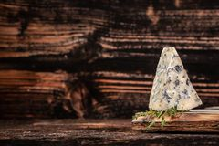 Free Danish Blue Cheese On A Wooden Board. Horizontal Macro. Mold Royalty Free Stock Images - 155376239