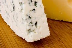 Danish blue cheese with Swiss cheese slice Stock Photo