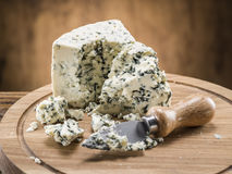 Danish blue cheese. Vintage stiles. Stock Images