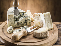 Danish blue cheese. Vintage stiles. Royalty Free Stock Photography