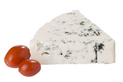 Danish Blue Cheese With Tomato Royalty Free Stock Images