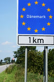 Danish Border. Photo with Danish border sign stock photo