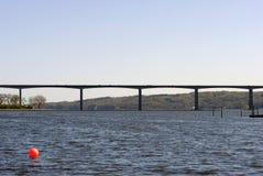 Danish bridge crossing Vejle Fjord Stock Image