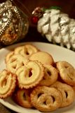 Danish Butter Cookies for Holidays Stock Photos